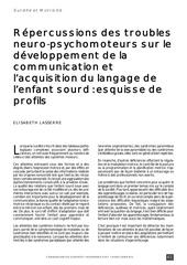 repercussions des troubles neuro psychomoteurs sur le developpem