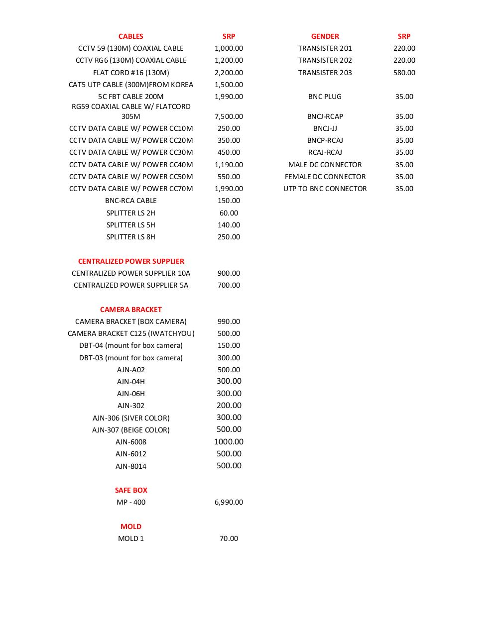 Aperçu du document MIDAS_COMPUTER_AND_CCTV_CENTER_CCTV_SURVEILLANCE_CAMERA_PRICELIST.pdf - page 2/2