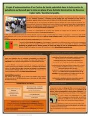 projet d autonomisation d un centre de sante specialise dans la lutte contre le paludisme au burundi