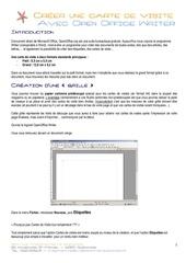 Fichier PDF Carte De Visite Avec Writer