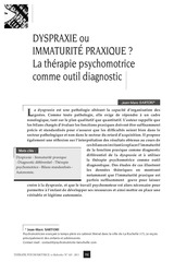 dyspraxie ou immaturite praxique
