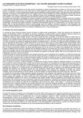 les metropoles et la france peripherique guilluy 2011