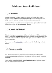 Fichier PDF peindre pas a pas les 10 etapes