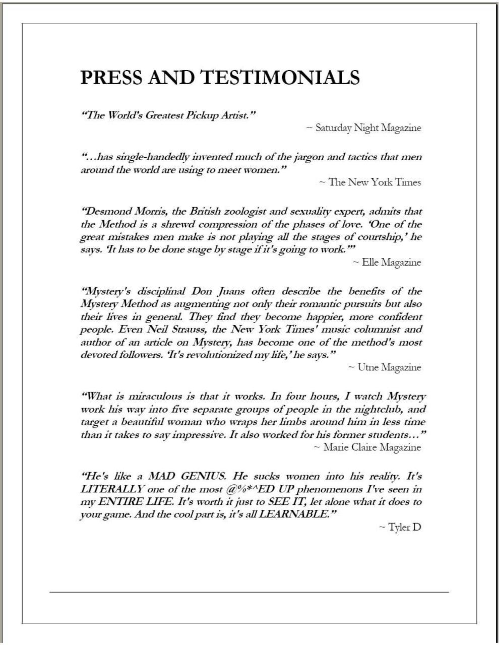 Mystery Method The Venusian Arts Handbook Pdf