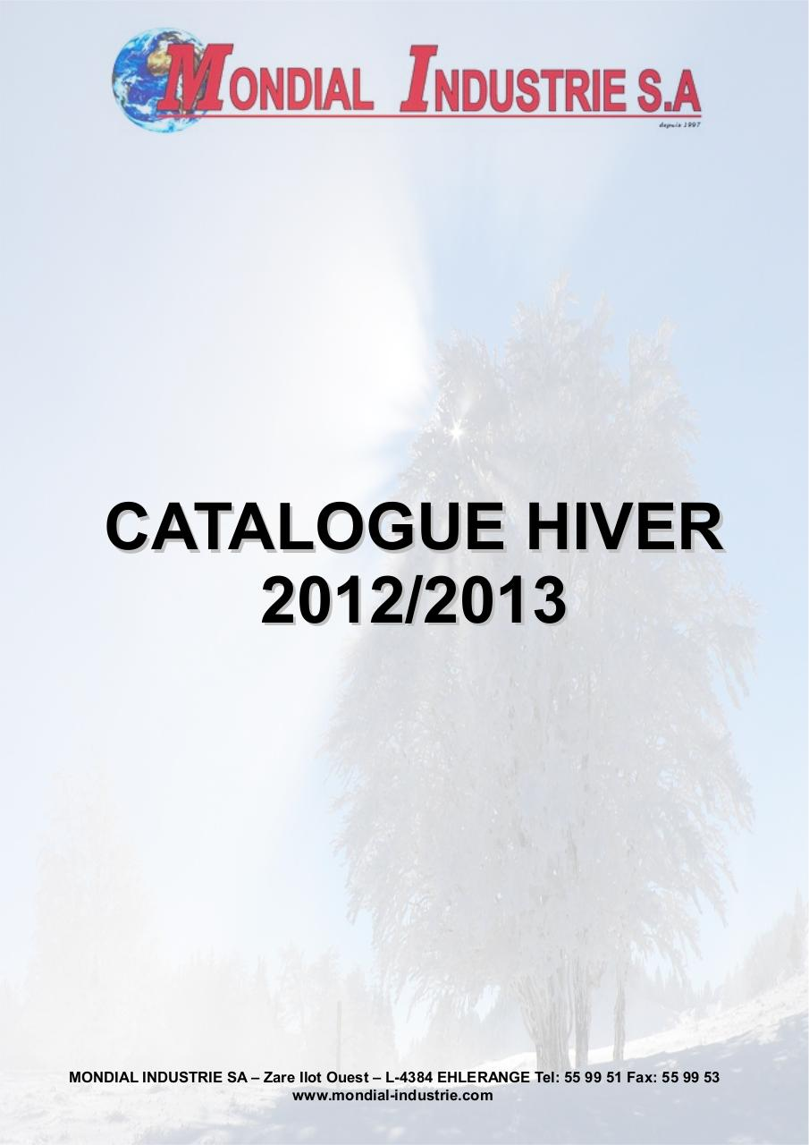 CATALOGUE HIVER 2012 2013 MONDIAL INDUSTRIE LUXEMBOURG.pdf - page 1/12