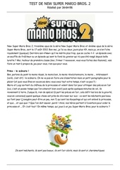 test n 1 new super mario bros 2