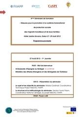 programme provisoire seminaire 27 29 aout 2012 dakar v 20 08