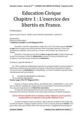 cours exercice des libertes en france themes 1 et 2