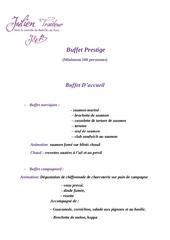 formule buffet prestige 75
