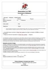 fiche adhesion 2012 2013