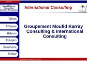 presentation international consulting
