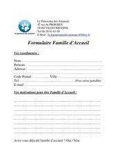 formulaire famille d accueil
