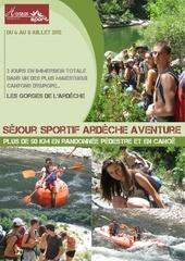 photos sejour sportif ardeche aventure 6 8 juillet 2012