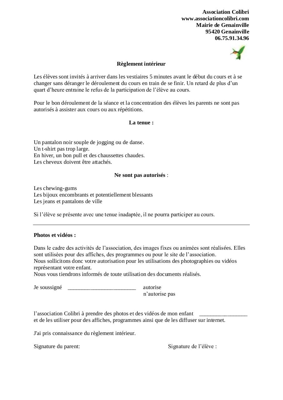 R glement int rieur r glement int fichier pdf for Le reglement interieur