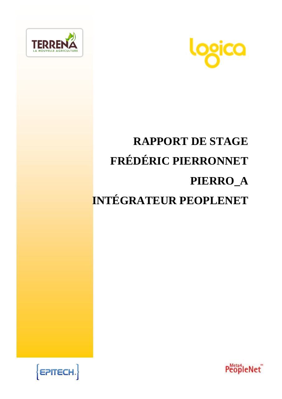 Projet SIRH Groupe par Renaud LANCRENON - stage tech5 pierro