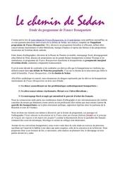 le chemin de sedan analyse du programme de france bonapartiste