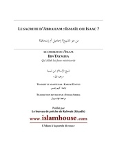 fr islamhouse ismael ou isaac ibn taymiya