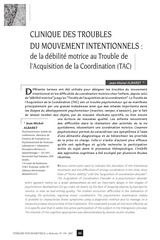 clinique des troubles du mouvement intentionnels de la debilite