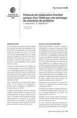protocole de reeducation d enfant porteur d un tdah par une tech