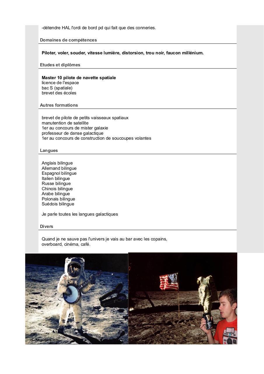 cv astronaute