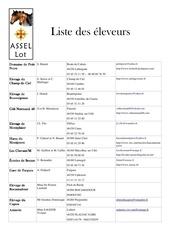 Fichier PDF liste eleveurs