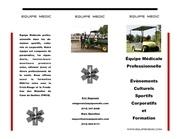 brochure equipe medic