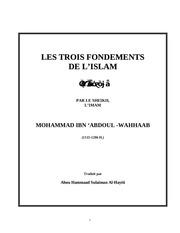 les trois fondements de l islam