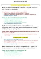 programmation tes 2012 2013