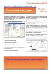 Fichier PDF couleur de fond dans autocad