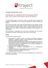 672 offre emploi traject bruxelles