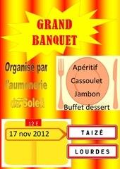 affiche banquet 2012