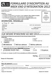 formulaire inscription wei 2012 site