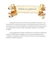 attributs et competences