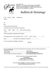 bulletin de parrainage