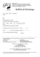 parrainage bulletin