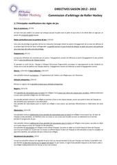 directives arbitres et modifs reglement 2012 2013