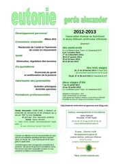 eutonie sud ouest 2012 2013