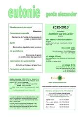 eutonie val de loire 2012 2013