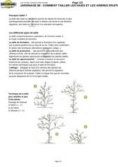 Fichier PDF jardinage comment tailler les haies et les arbres fruitiers