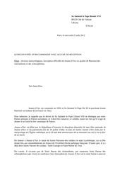 lettre au pape
