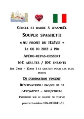 cercle st barbe a wasmuel spaghetti