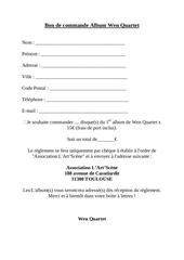 Fichier PDF bon de commande album wen quartet