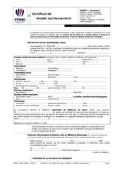 certificat de double surclassement