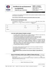 certificat de surclassement exceptionnel reserve aux minimes