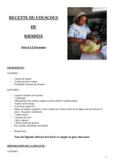 recette du couscous