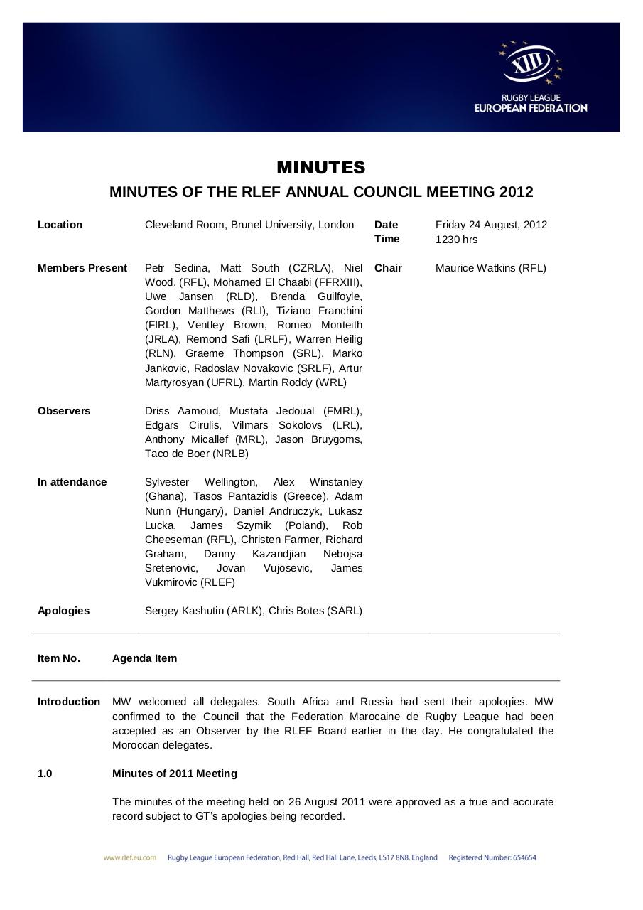 RLEF AGM 24 August 2012 MINUTES.pdf - page 1/3