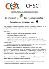 chsct transilien bon ligne 1 juin 2012