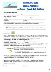 dossier inscription sept 2012