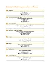 Fichier PDF ecoles ap en france