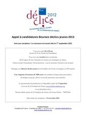appel a candidatures 2013